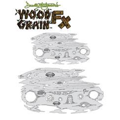 Wood Grain FX Freehand Airbrush Template Set by Dennis Mathewson