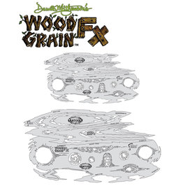Artool Wood Grain FX Freehand Airbrush Template Set by Dennis Mathewson