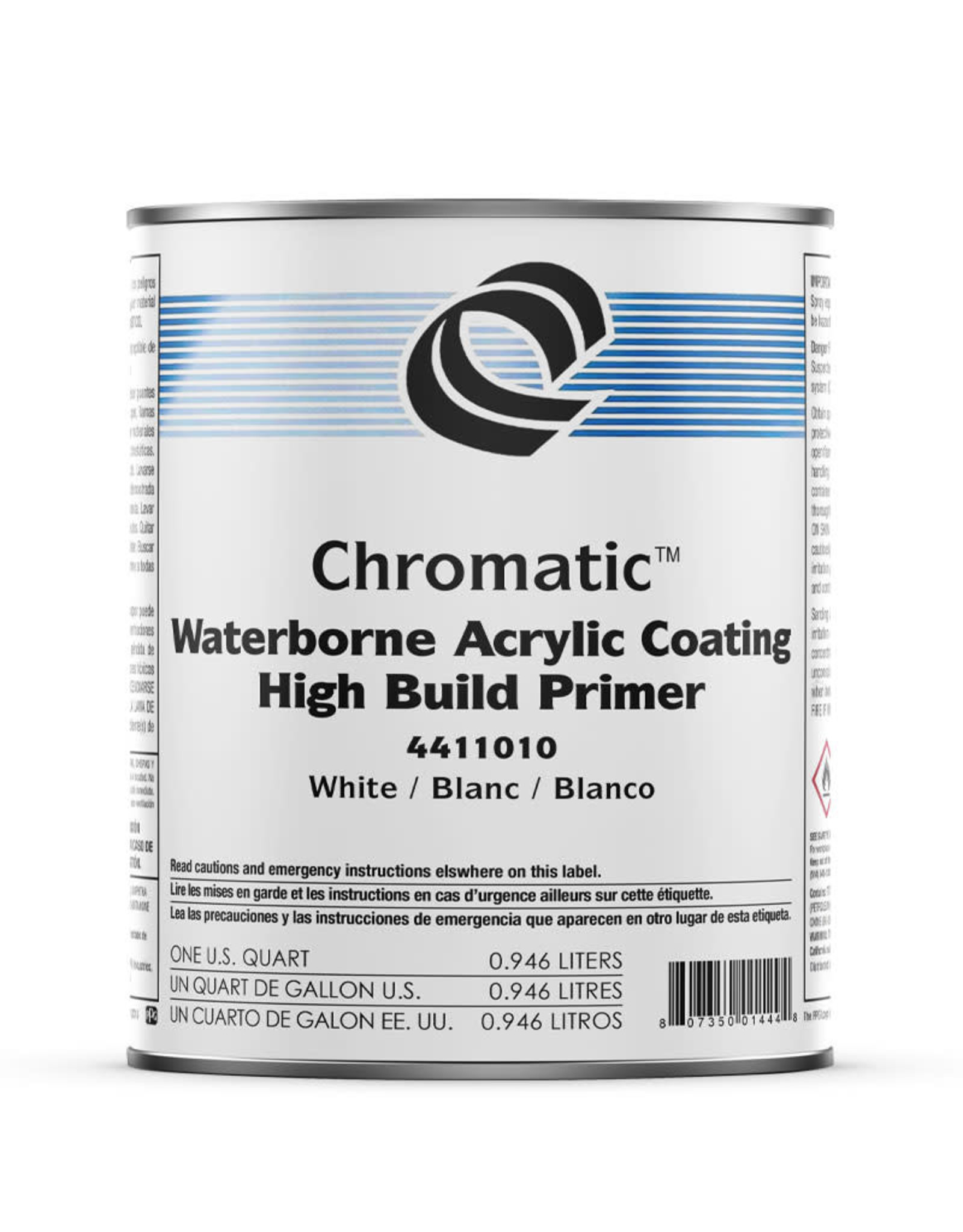 1 Shot 1 Shot Chromatic Waterborne Acrylic Coating High Build Primer 946 ml (White)