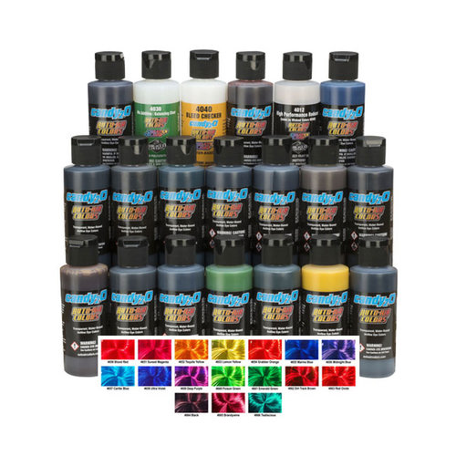 Createx Candy2o Colors Createx Candy2o Airbrush Colors - 60 ml Complete Set