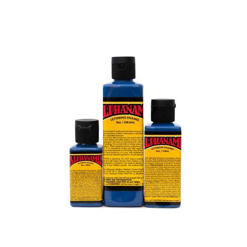Alpha 6 Corporation Alphanamel Signwriting and Pinstriping enamel paint - ALPHA Blue