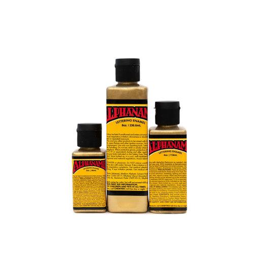 Alpha 6 Corporation Alphanamel Signwriting and Pinstriping enamel paint - Metallic Gold