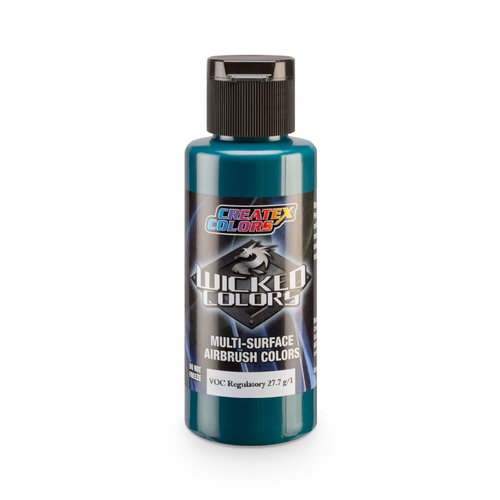 Createx Colors Createx Wicked Opaque Airbrush Colors 60 ml - W084 Opaque Phthalo Green