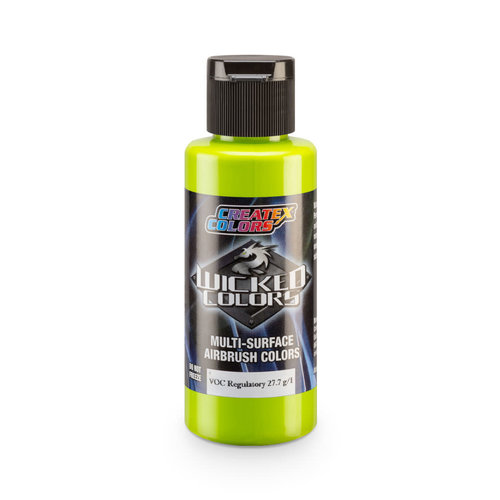 Createx Colors Createx Wicked Opaque Airbrush Colors 60 ml - W085 Opaque Limelight Green