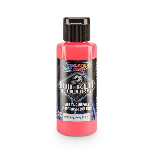 Createx Colors Createx Wicked Fluorescent Airbrush Colors 60 ml - W022 Fluorescent Red