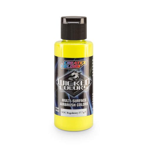 Createx Colors Createx Wicked Fluorescent Airbrush Colors 60 ml - W024 Fluorescent Yellow