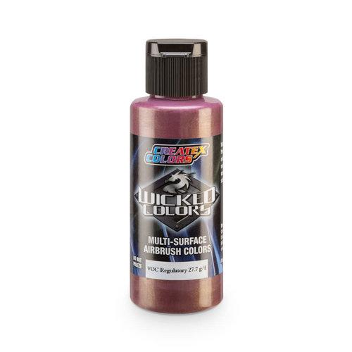 Createx Colors Createx Wicked Pearl and Metallic Airbrush Colors 60 ml - W372 Metallic Rose