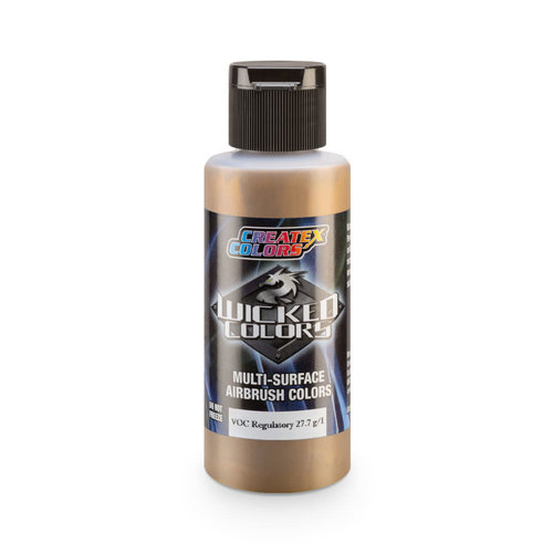 Createx Colors Createx Wicked Pearl and Metallic Airbrush Colors - W358 Gold Chrome