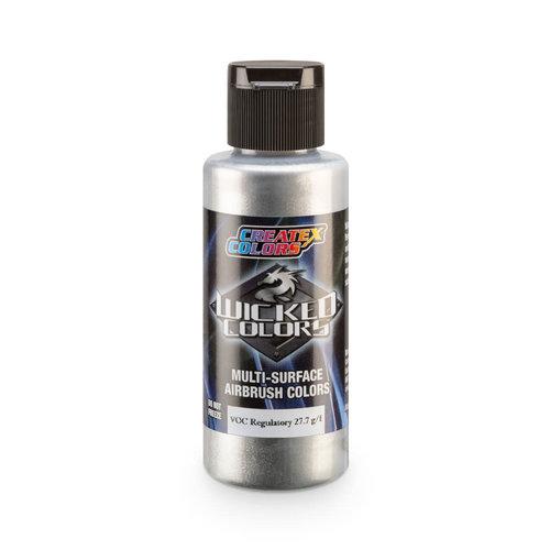 Createx Colors Createx Wicked Pearl and Metallic Airbrush Colors - W355 Aluminum Fine