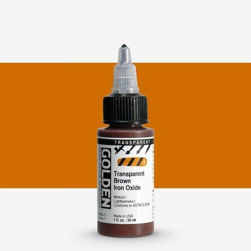 Golden High Flow Acrylics GOLDEN High Flow Transparent - 8562 Brown Iron Oxide