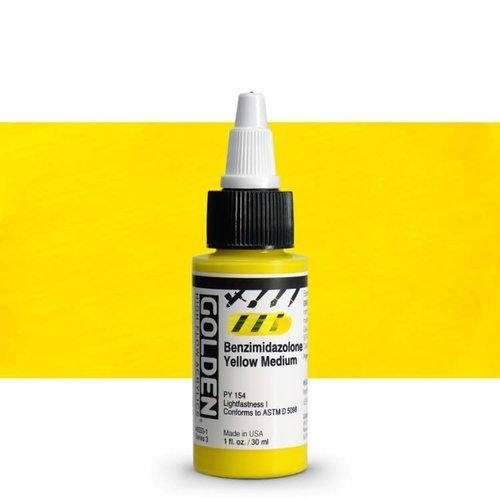 Golden High Flow Acrylics GOLDEN High Flow Acrylics - 8553 Benzimidazolone Yellow Medium