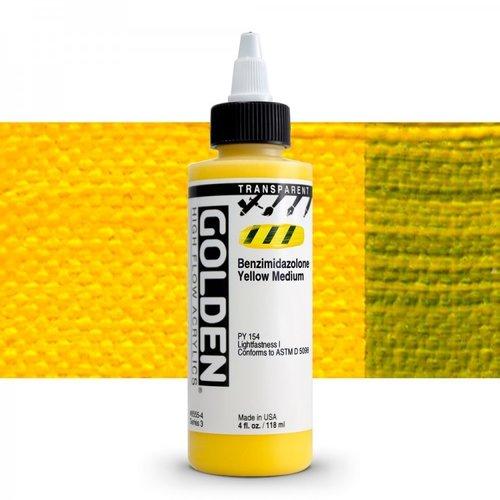 Golden High Flow Acrylics GOLDEN High Flow Transparent - 8555 Transparent Benzimidazolone Yellow Medium