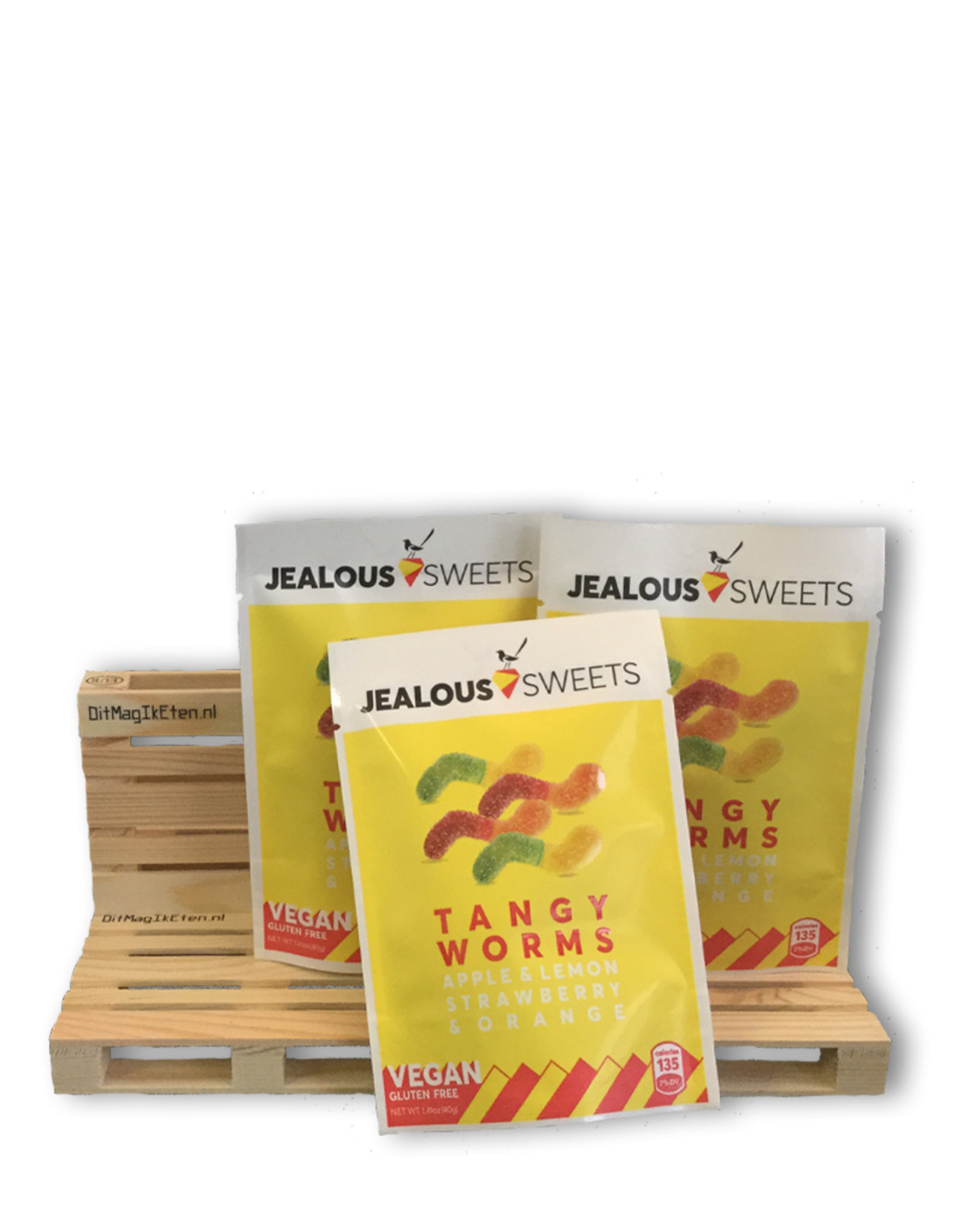Jealous sweets Jealous Sweets Tangy Worms 40 gram