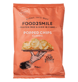 Food2Smile Popped chips Classic, 75 gram
