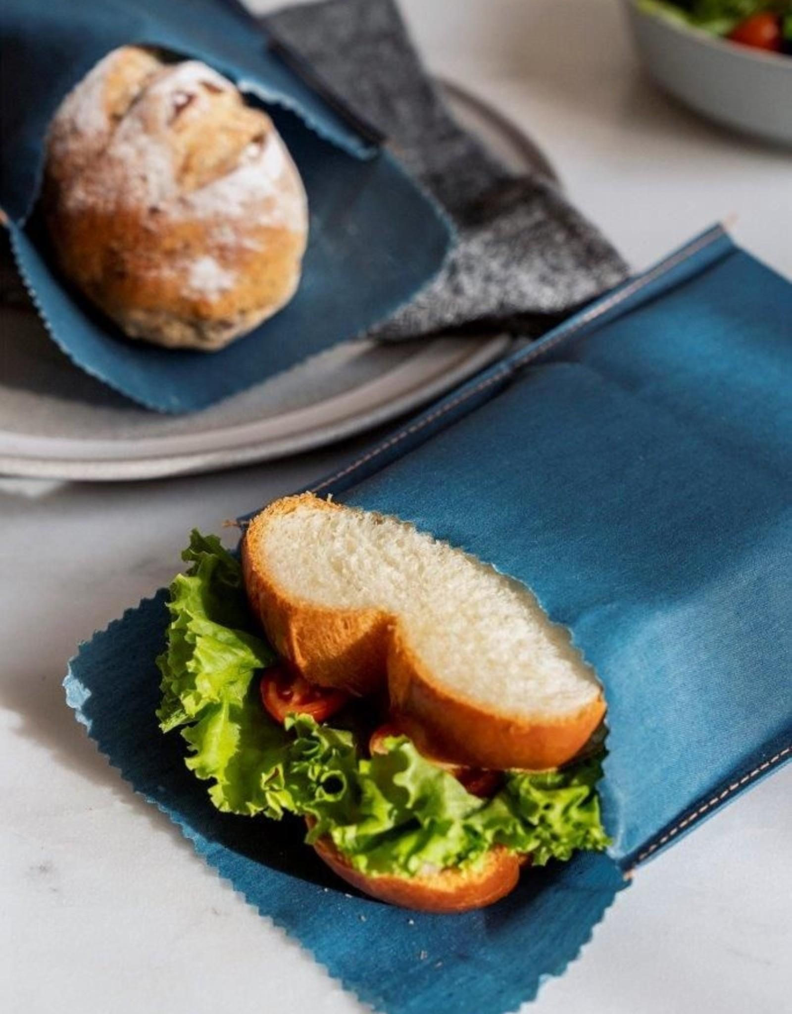 Nuts Beeswax - Herbruikbare snack & boterhamzak - Jeans