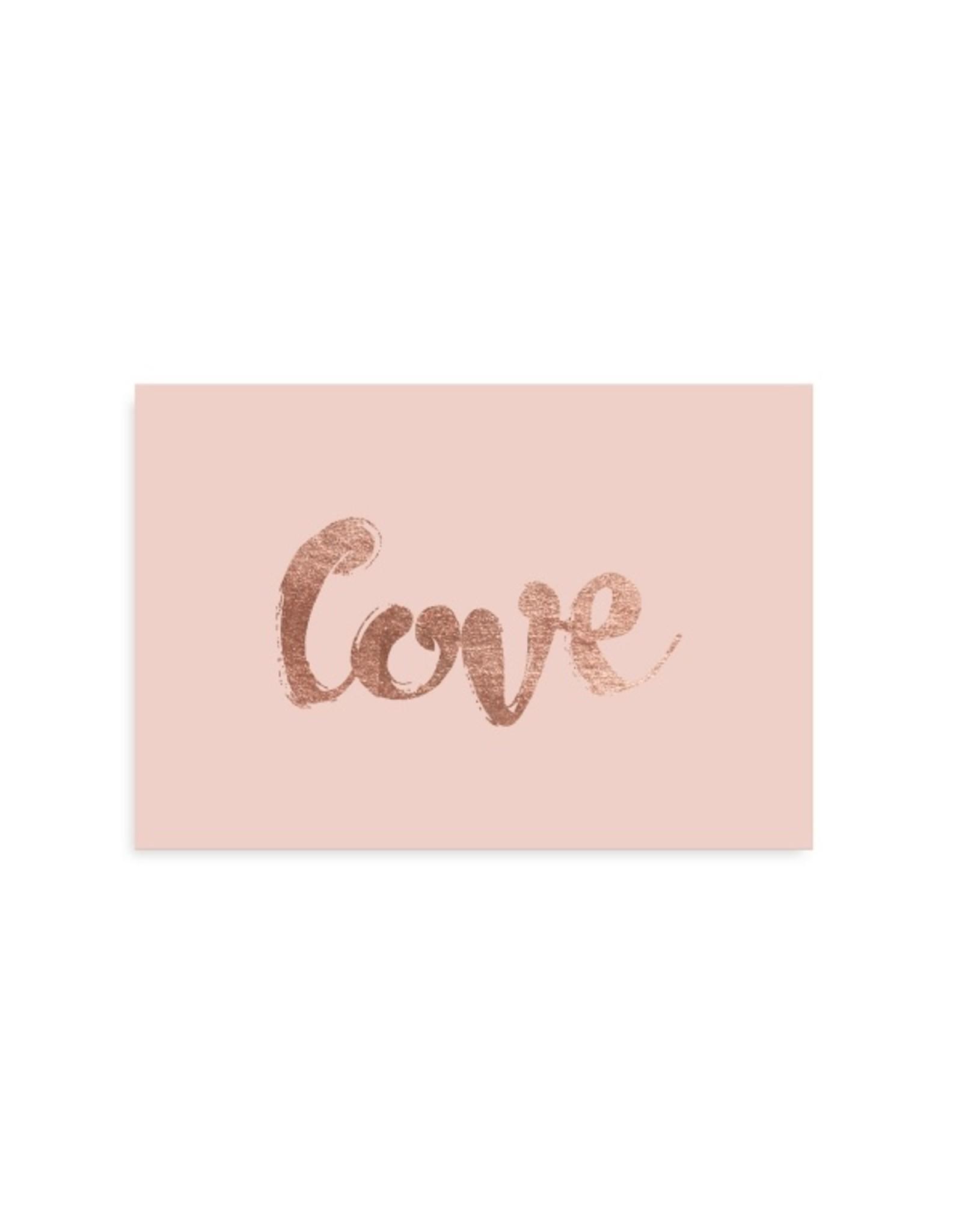 """Tafelgut Kaart """"Love"""""""