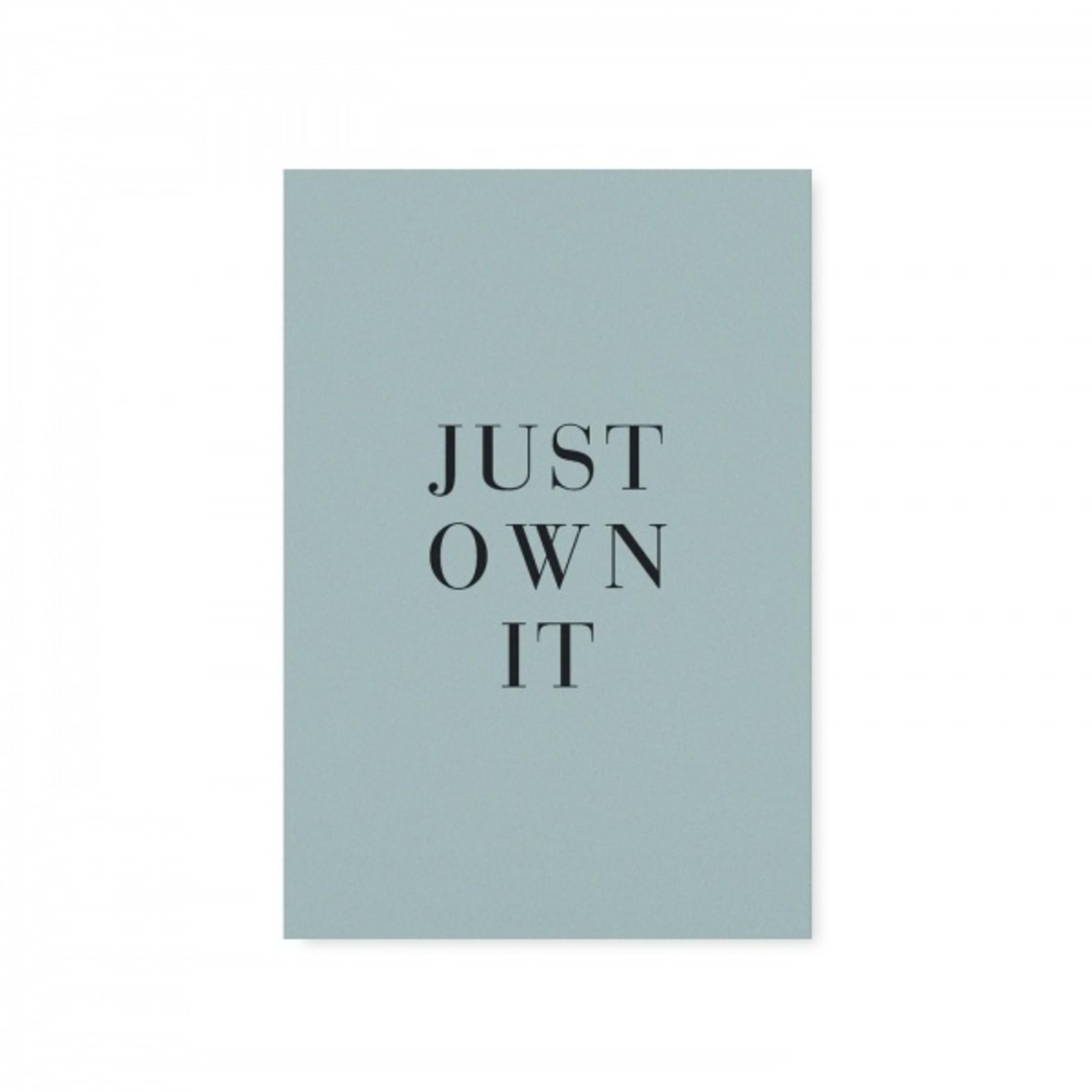 """Tafelgut Kaart """"Just Own It"""""""