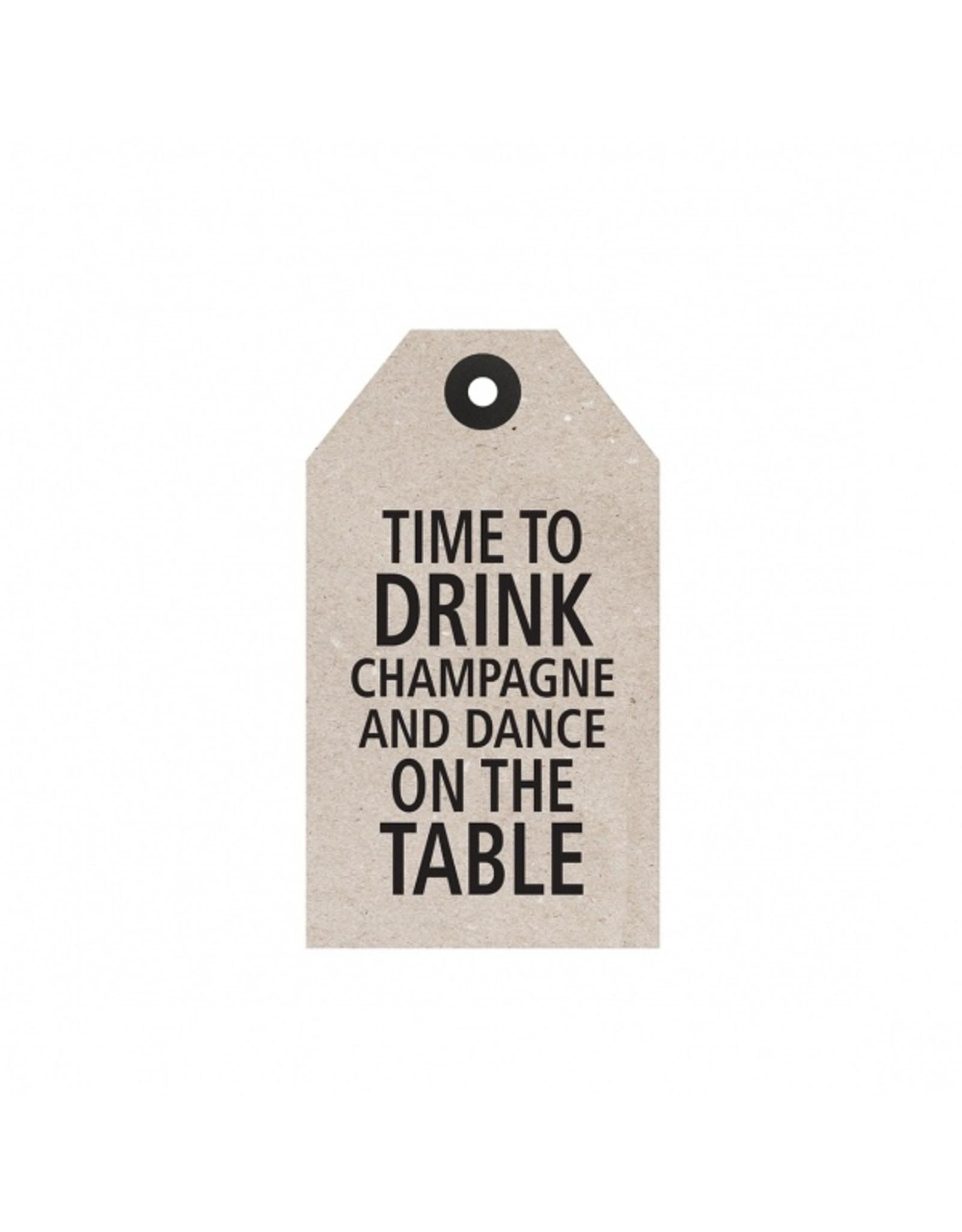 "Tafelgut Cadeaulabel ""Time To Drink"""