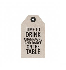 "Tafelgut Cadeaulabel ""Time To Drink"""