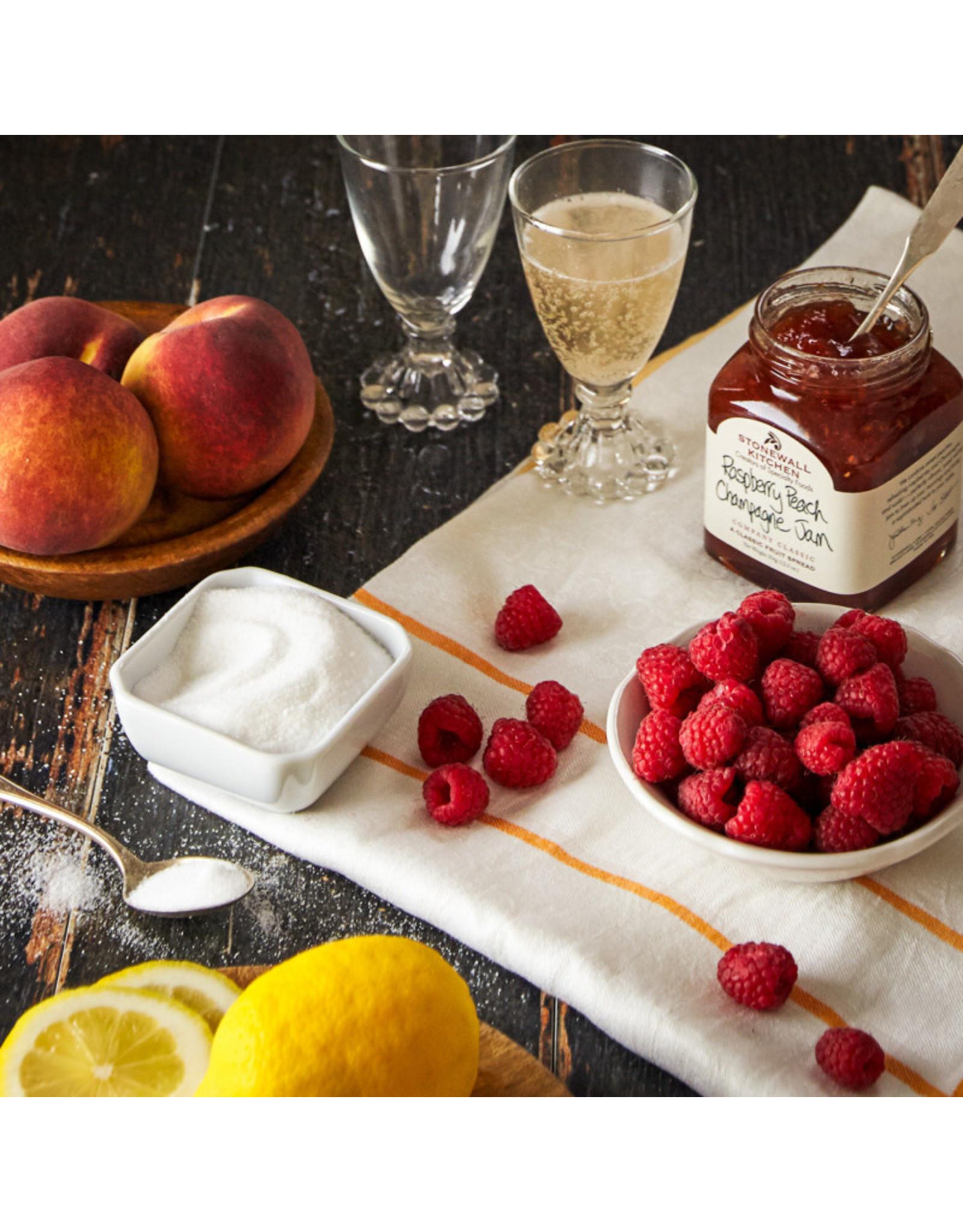 Frambozen, perziken, champagne jam - mini