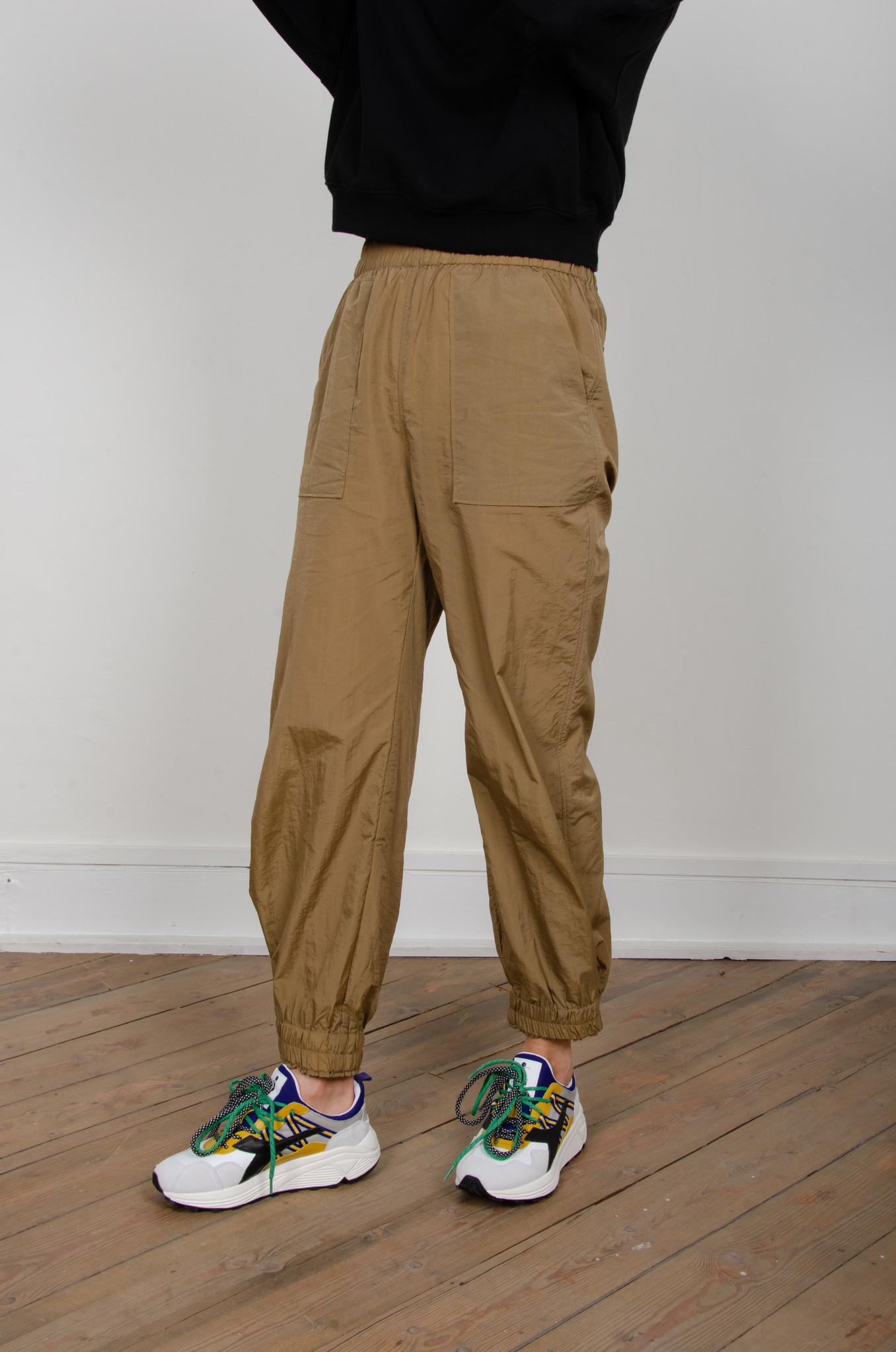 CRINKLED TECH PANTS-4