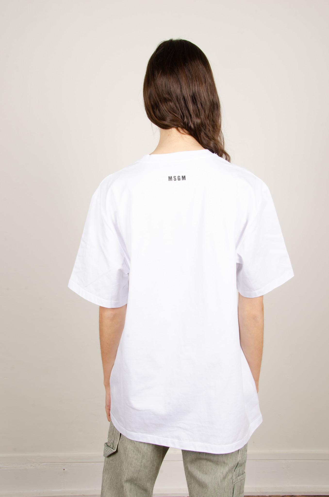 NEON EMBELLISHED WHITE TEE-4