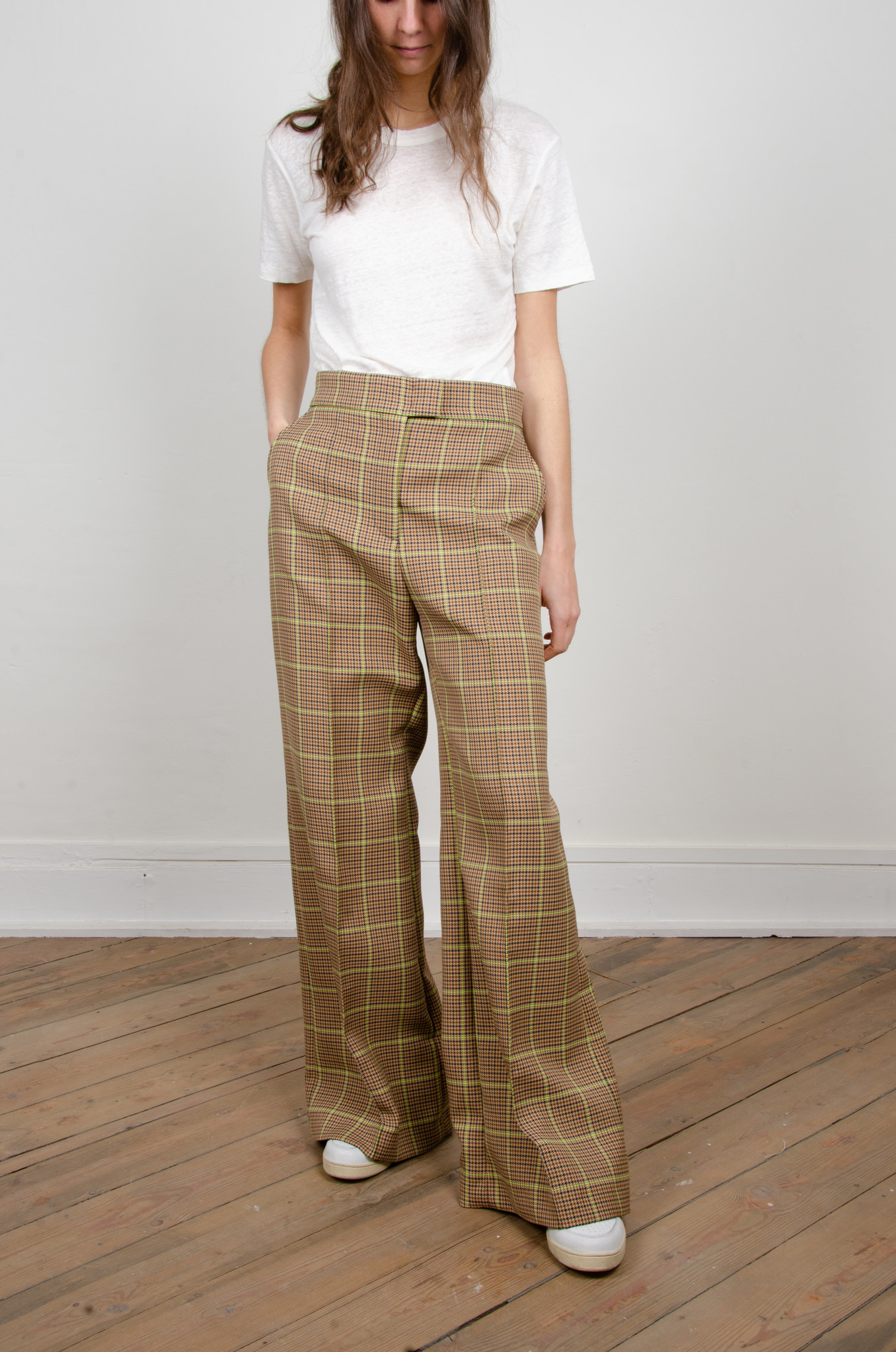 WIDE NEON CHECKERED TROUSERS-2