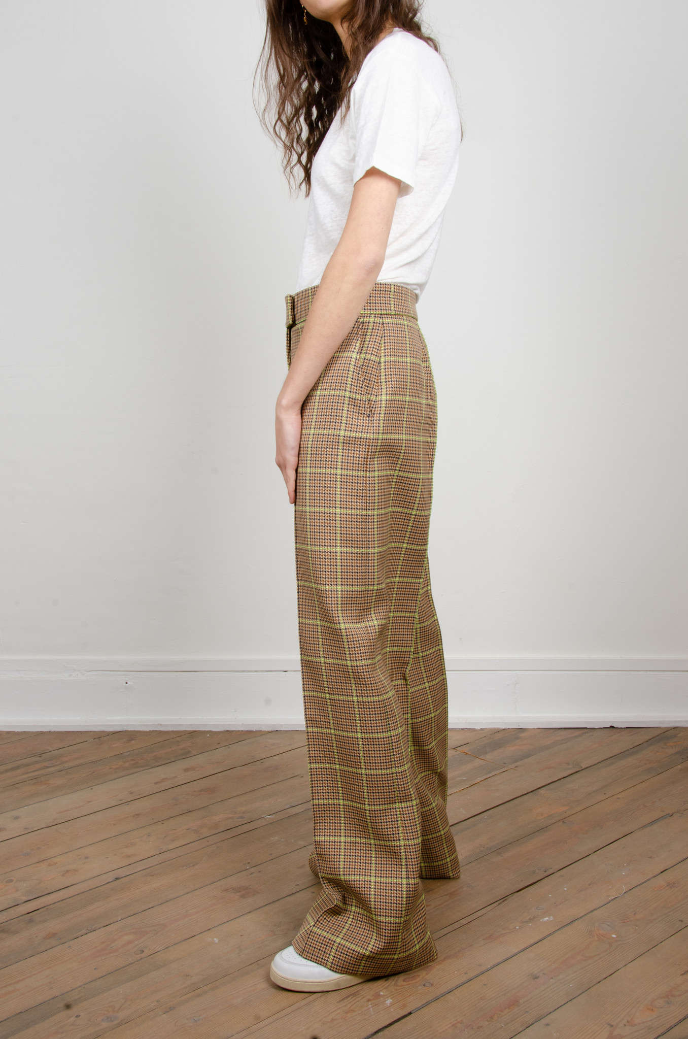 WIDE NEON CHECKERED TROUSERS-3