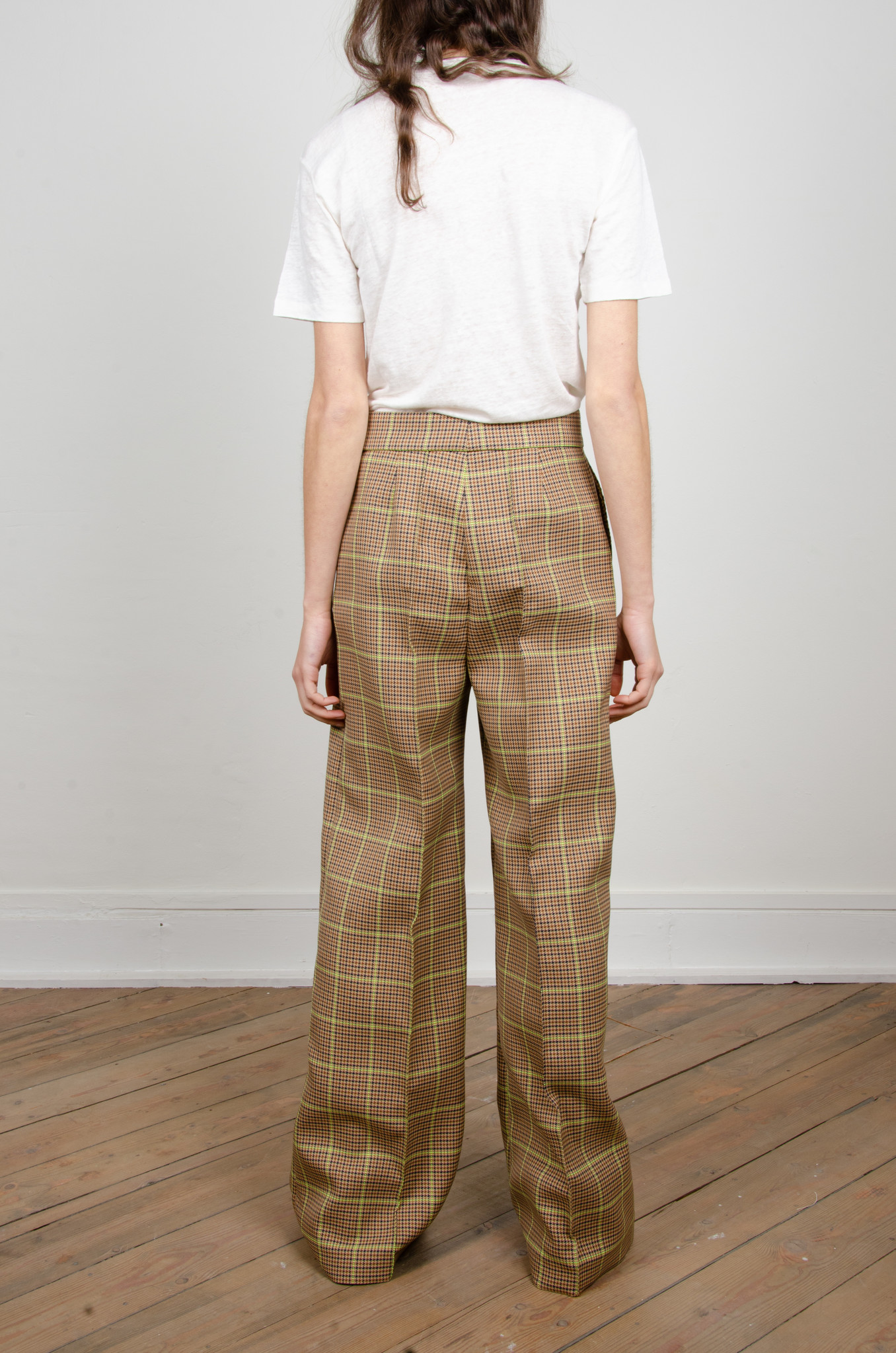 WIDE NEON CHECKERED TROUSERS-4