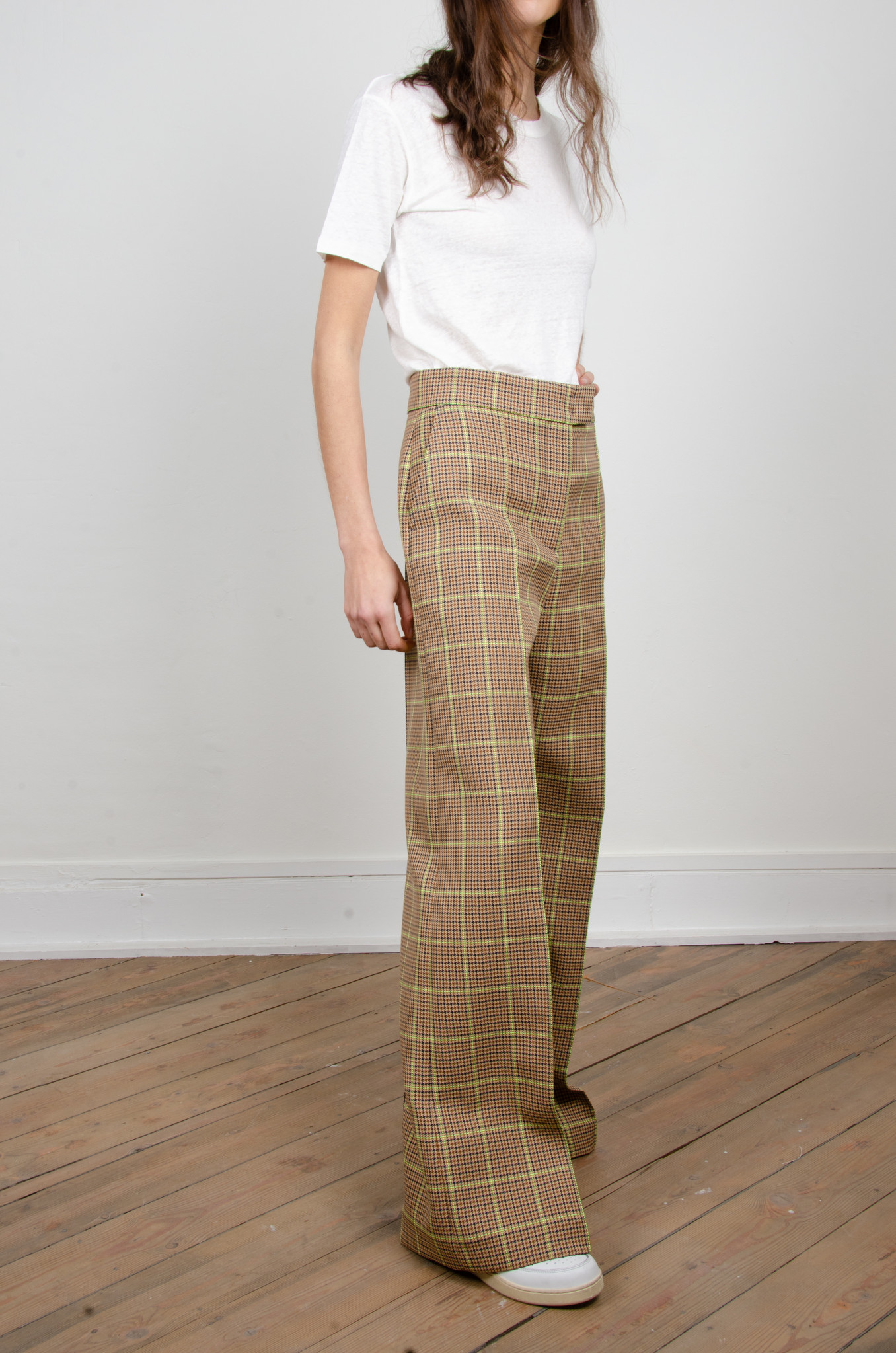 WIDE NEON CHECKERED TROUSERS-5