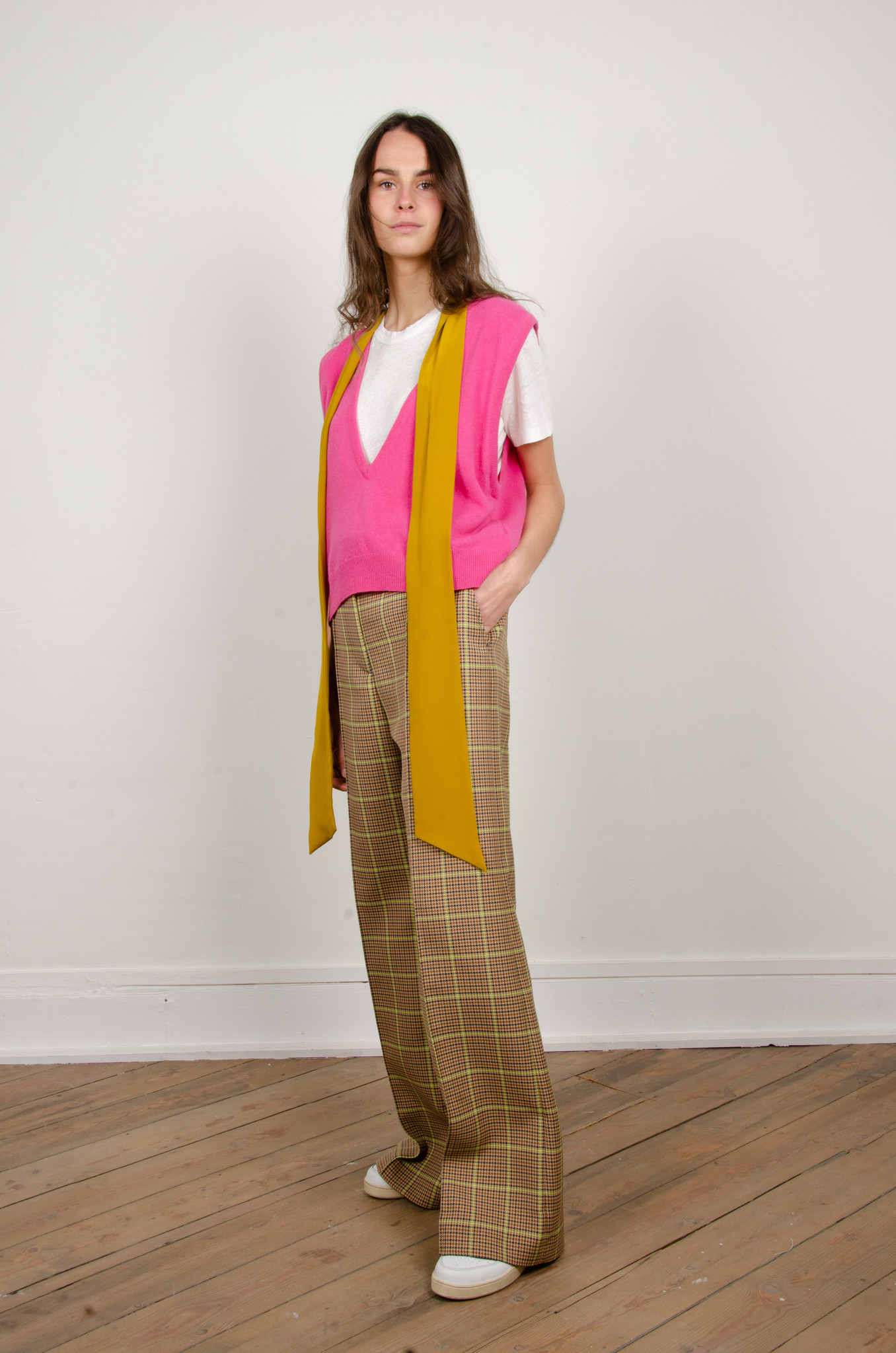 WIDE NEON CHECKERED TROUSERS-6