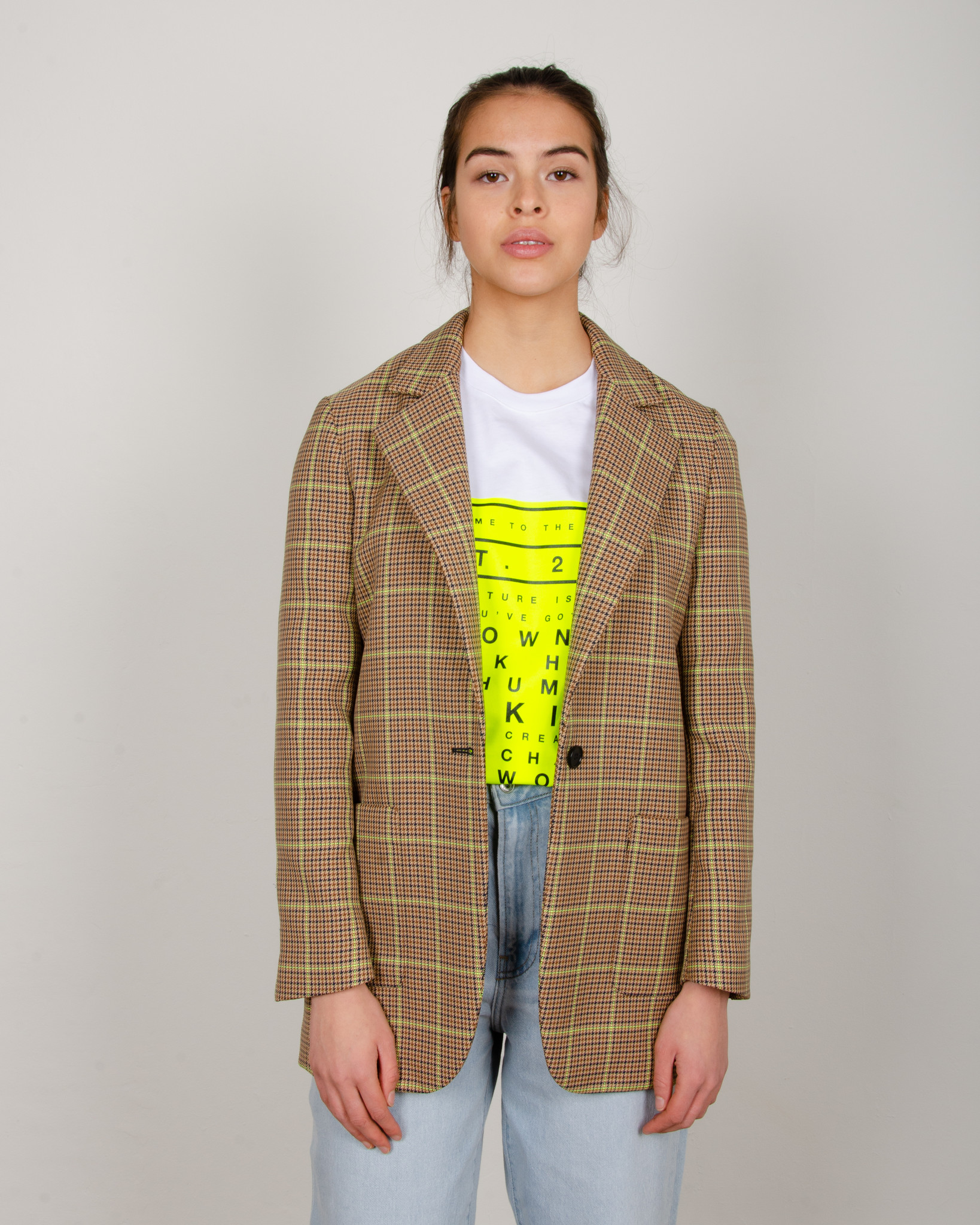 WIDE NEON CHECKERED TROUSERS-7
