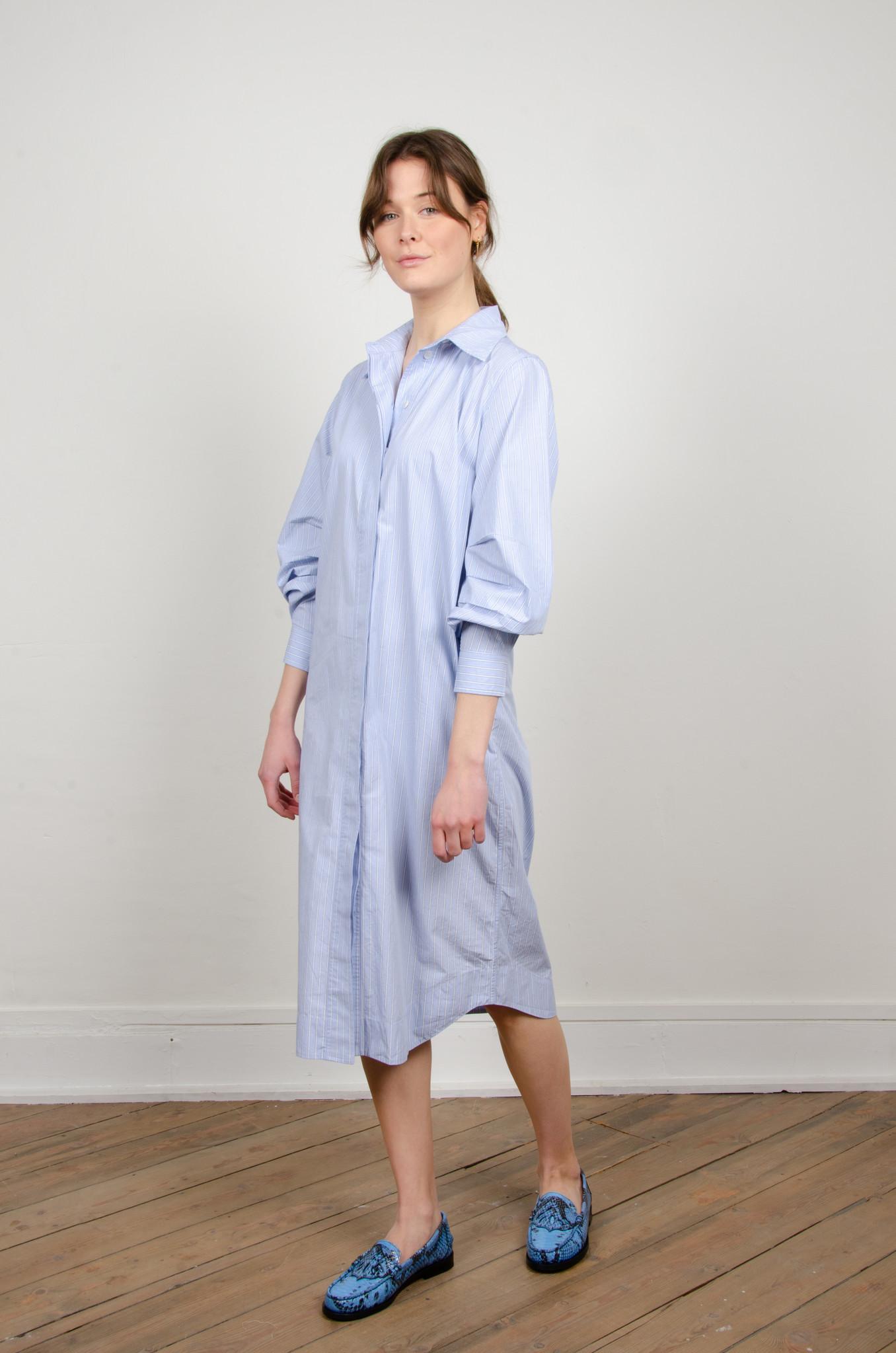 PINSTRIPE SHIRT DRESS-6
