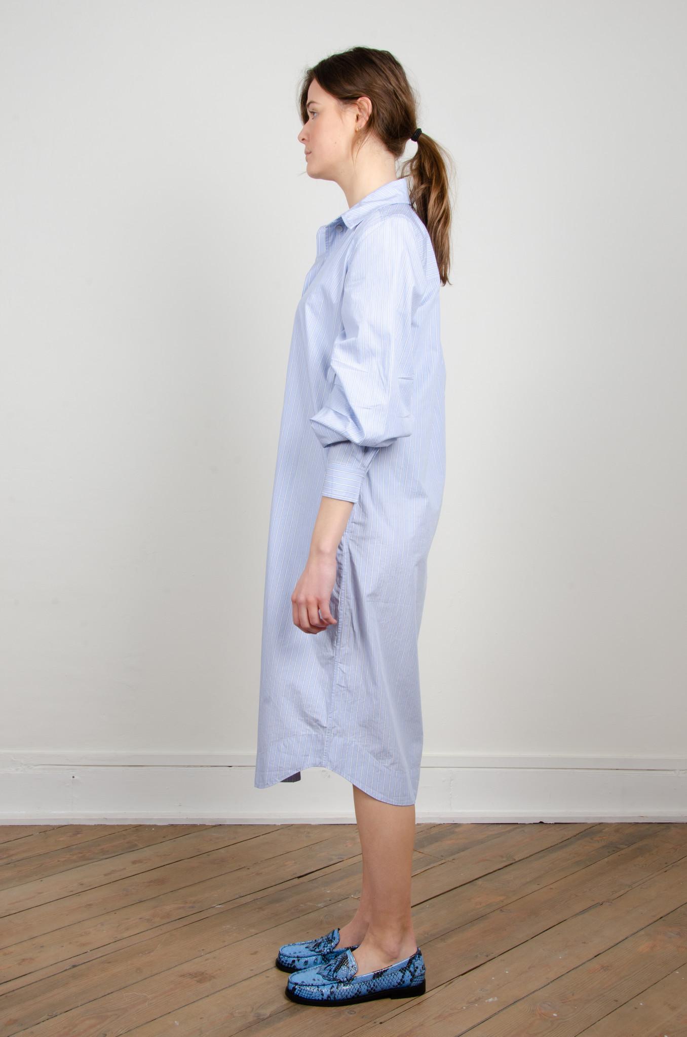 PINSTRIPE SHIRT DRESS-7