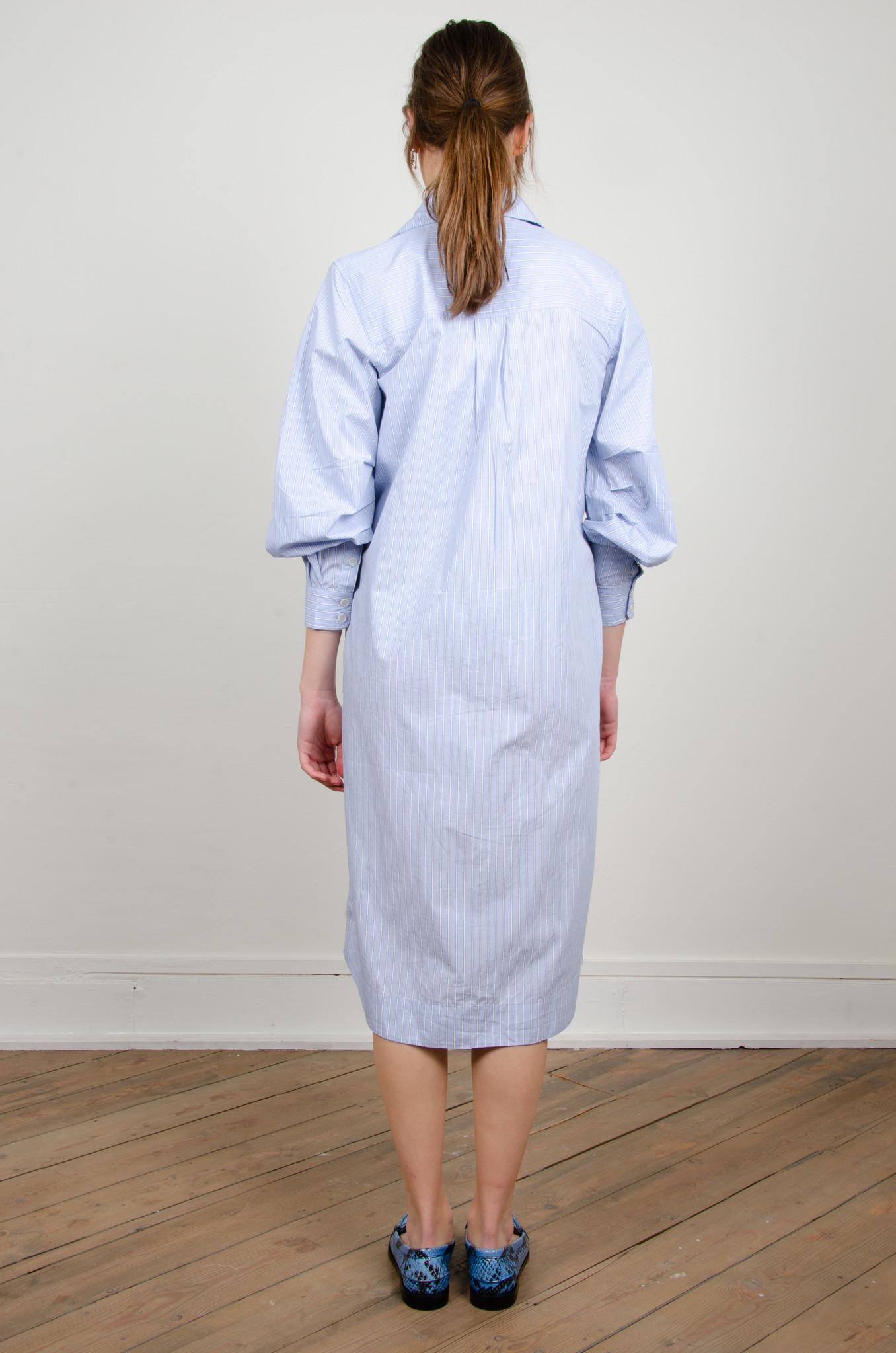 PINSTRIPE SHIRT DRESS-8