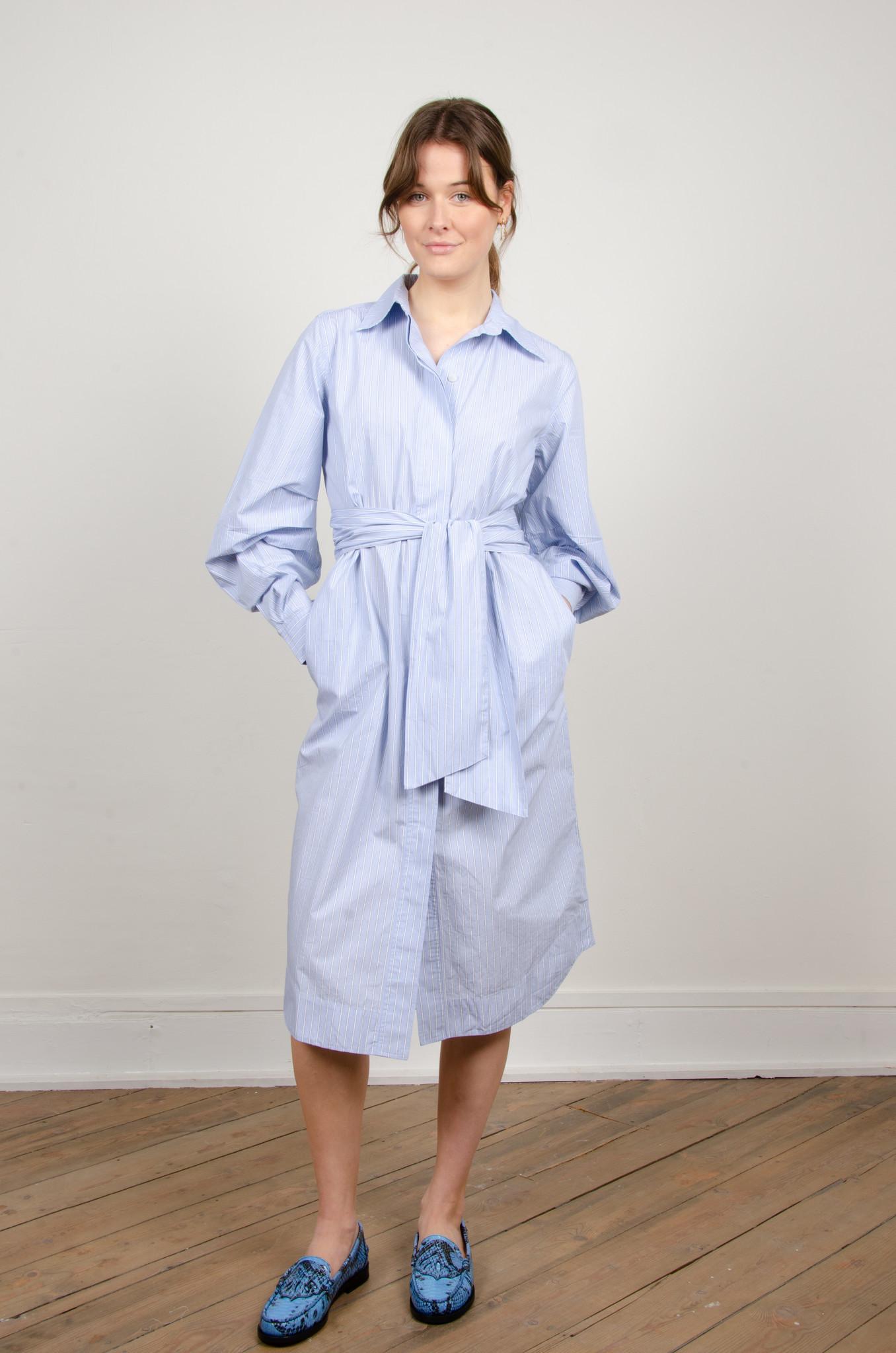 PINSTRIPE SHIRT DRESS-1