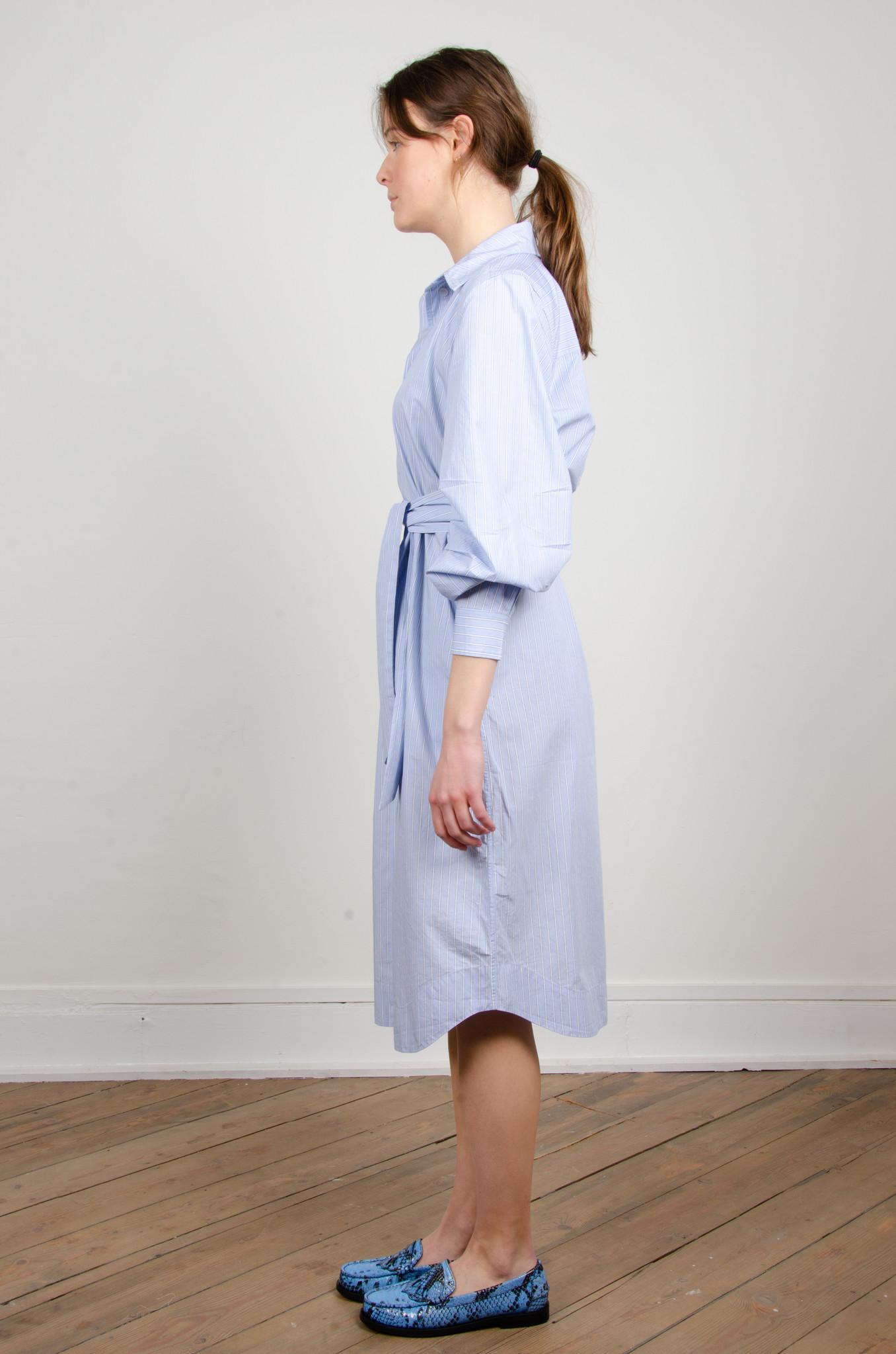 PINSTRIPE SHIRT DRESS-2
