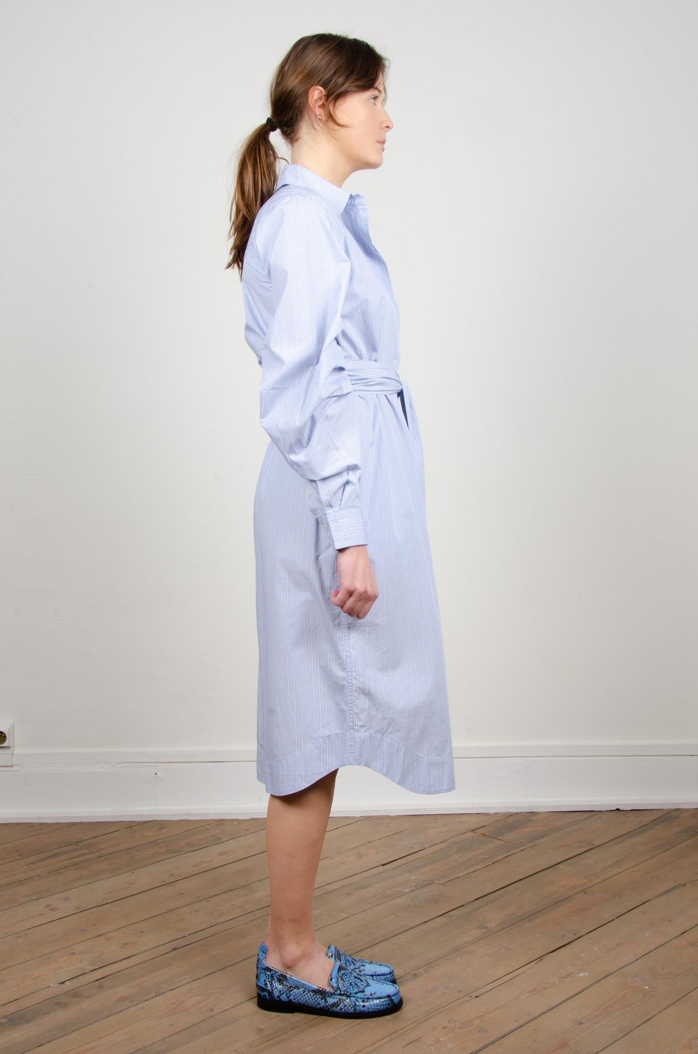 PINSTRIPE SHIRT DRESS-4
