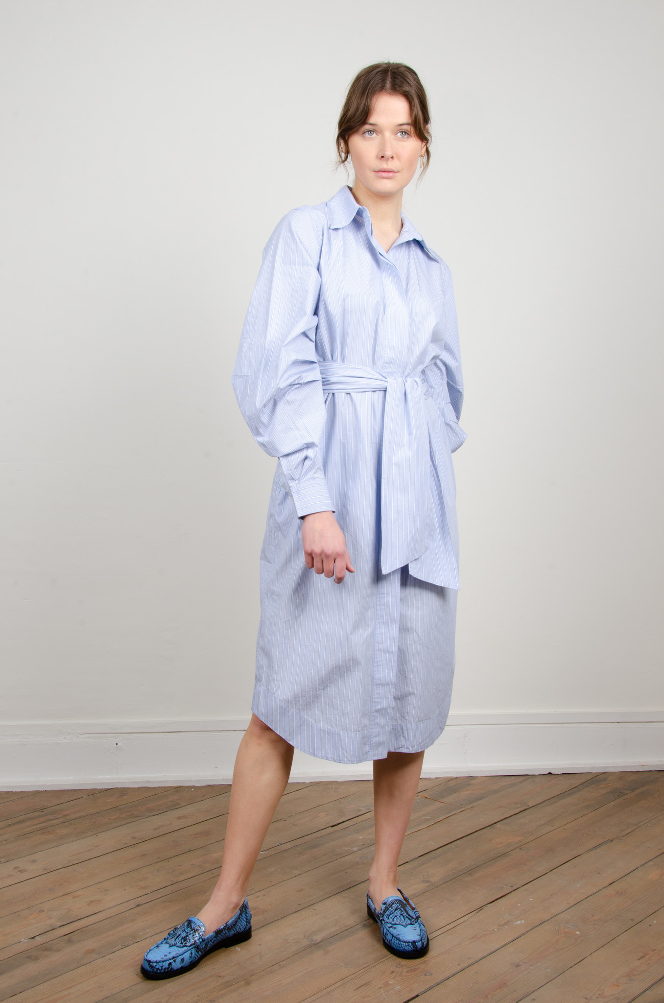 PINSTRIPE SHIRT DRESS-5