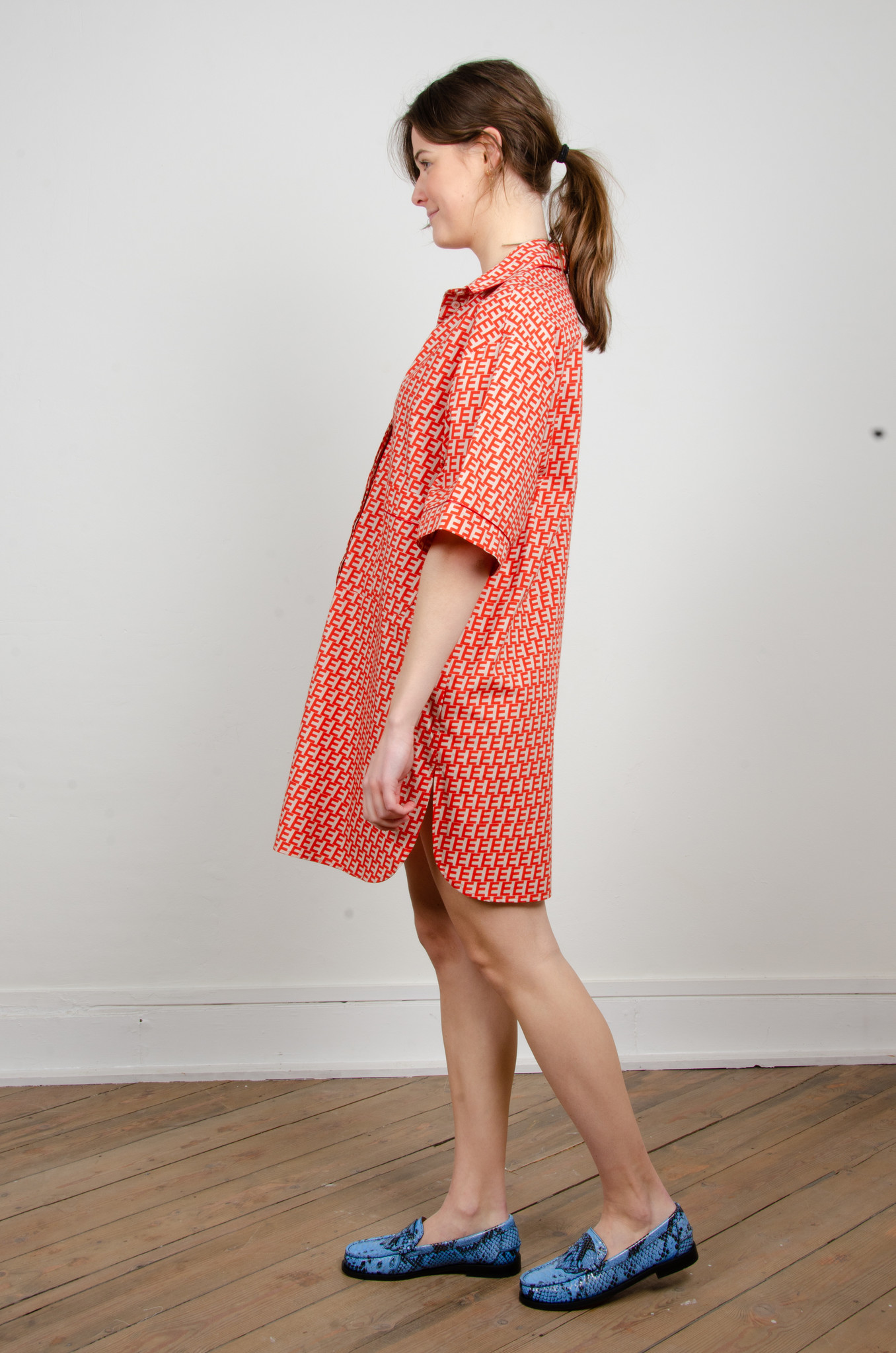 PRINTED SHORT SHIRT DRESS-2