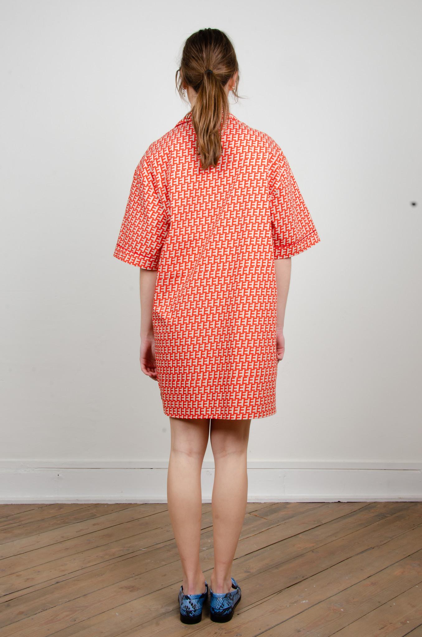 PRINTED SHORT SHIRT DRESS-3