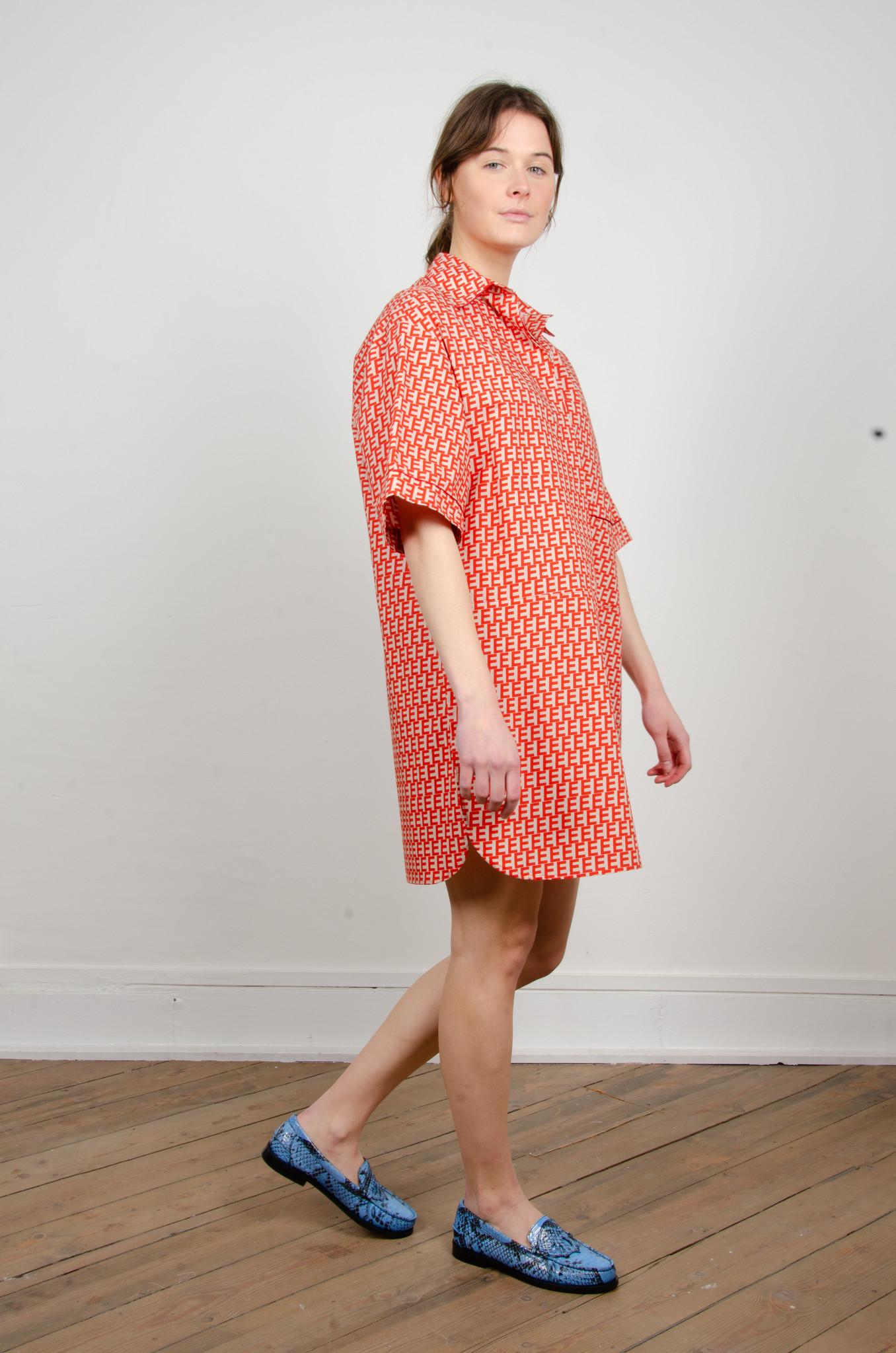 PRINTED SHORT SHIRT DRESS-4