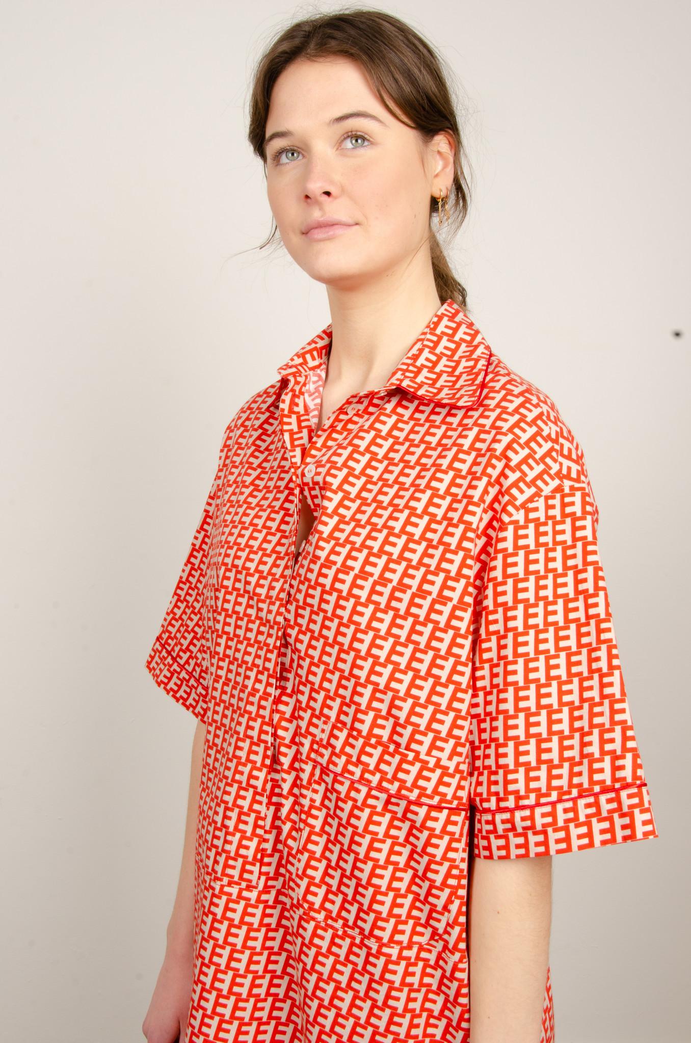 PRINTED SHORT SHIRT DRESS-5