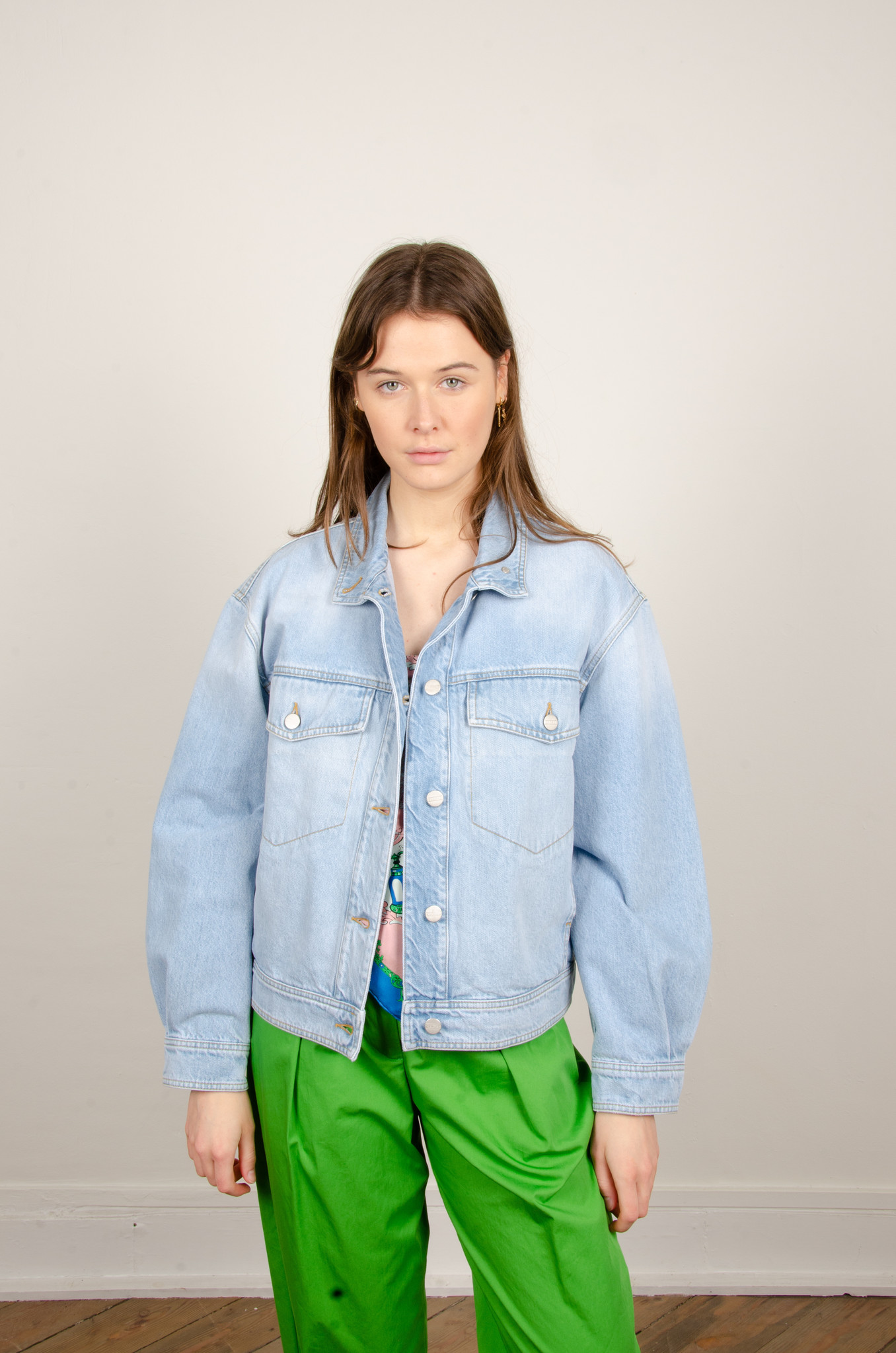 LOOSE FITTED DENIM JACKET-1