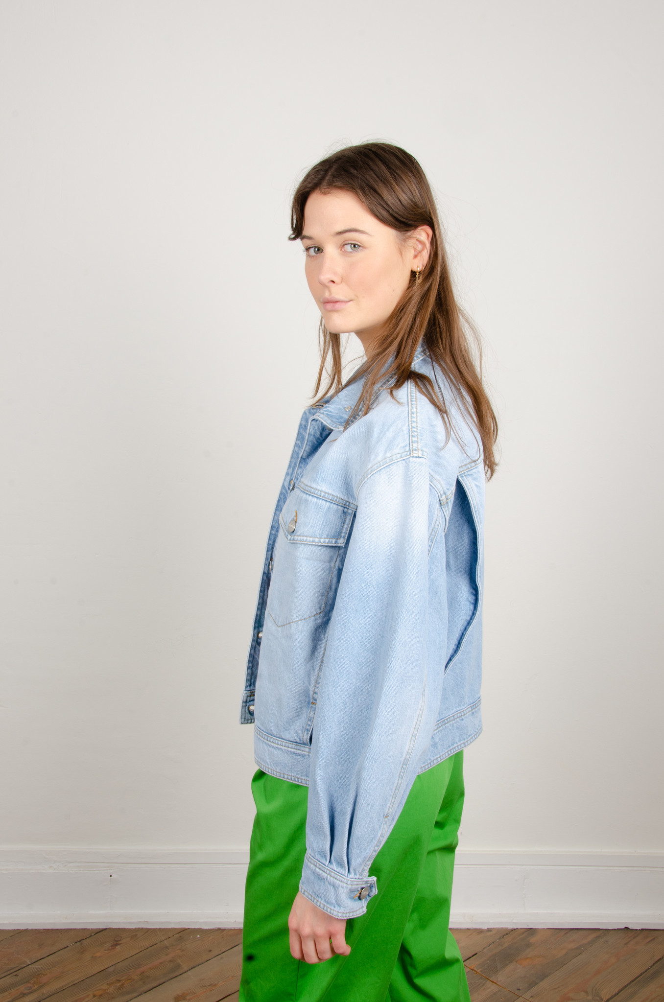 LOOSE FITTED DENIM JACKET-2