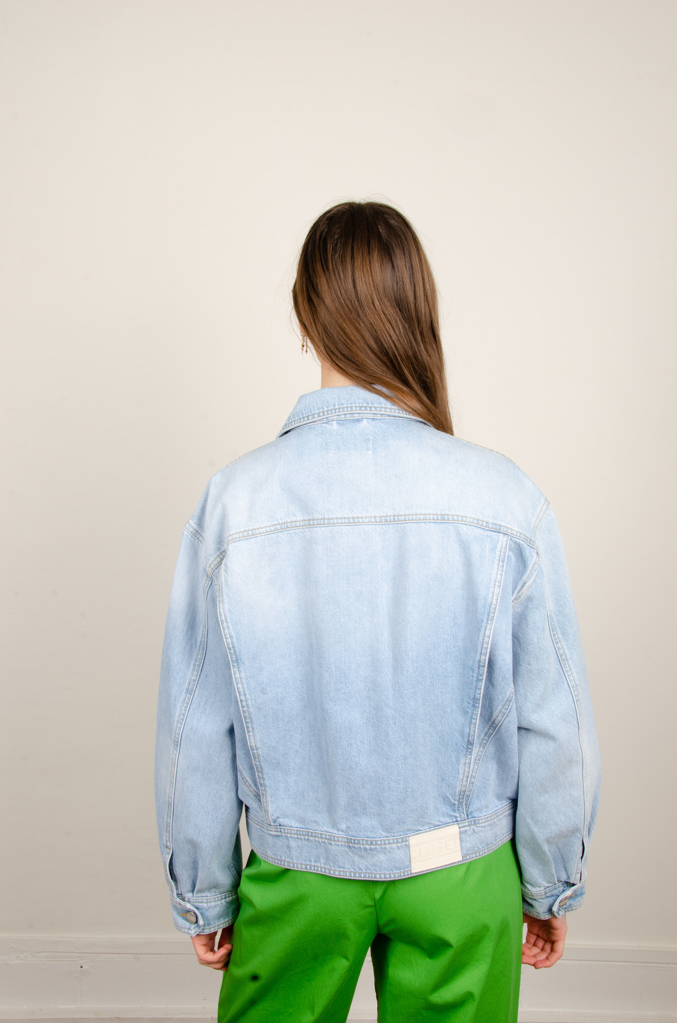 LOOSE FITTED DENIM JACKET-3