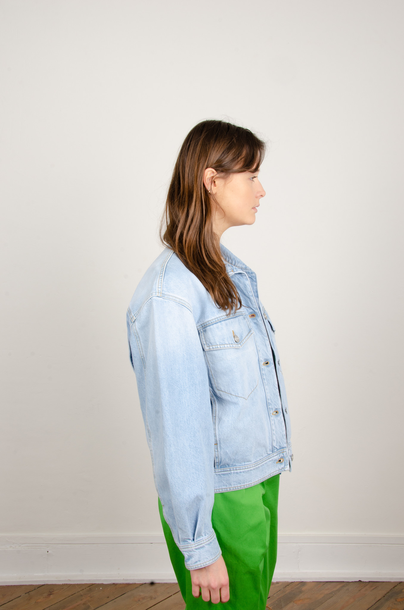 LOOSE FITTED DENIM JACKET-4