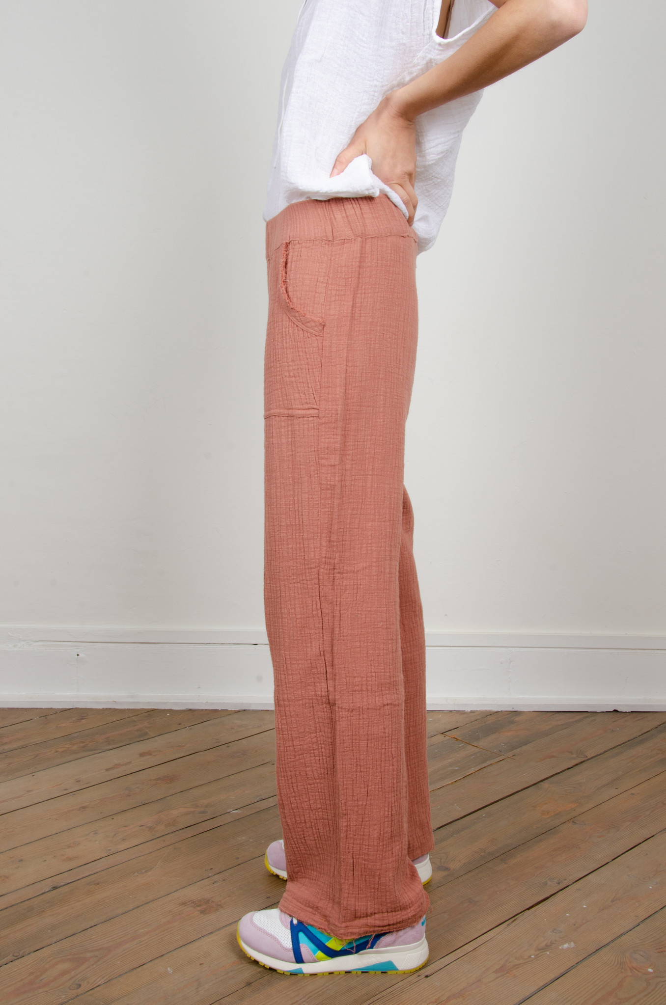 BAMBOO TROUSERS DARK OLD ROSE-2