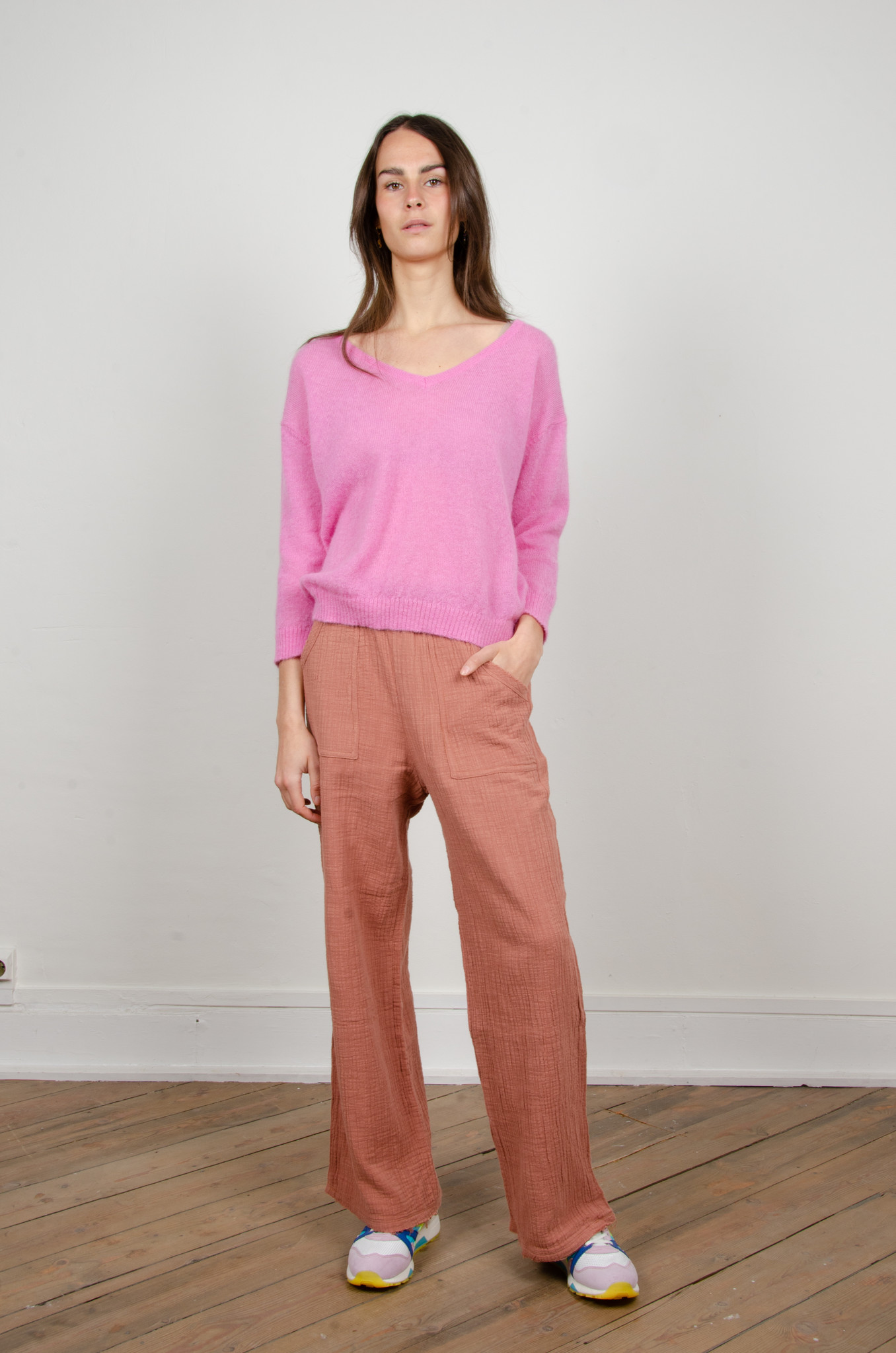 BAMBOO TROUSERS DARK OLD ROSE-6