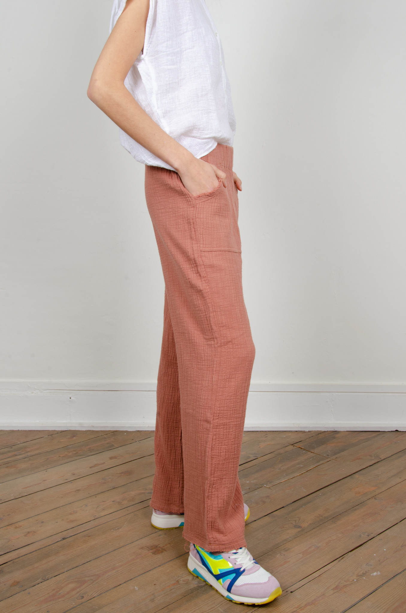 BAMBOO TROUSERS DARK OLD ROSE-4